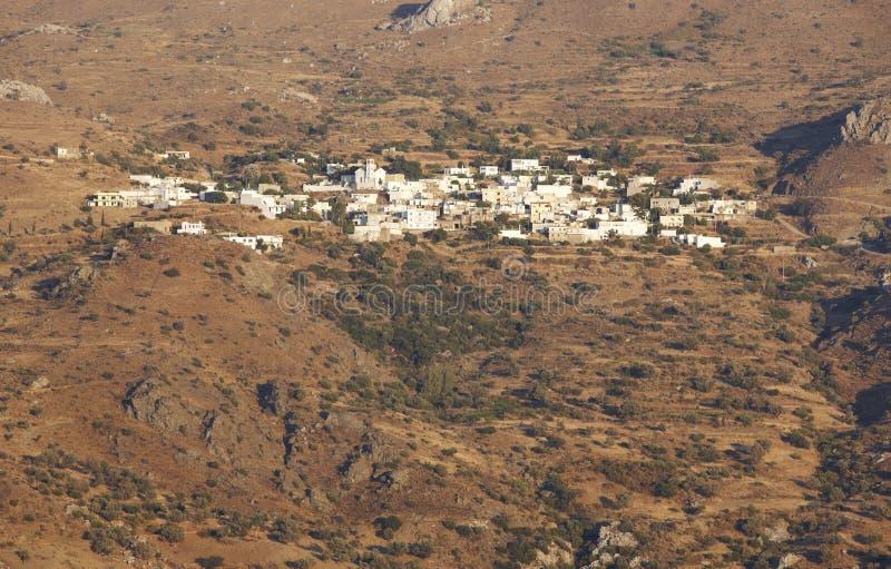 Traditioneel Kretenzisch dorp in de berg kreta Griekenland royalty-vrije stock fotografie