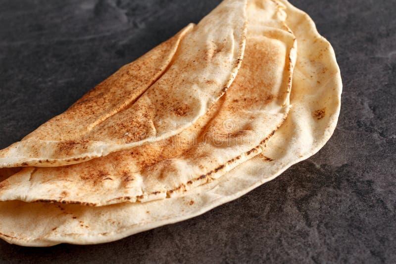 Traditioneel Libanees Vlak Brood stock foto