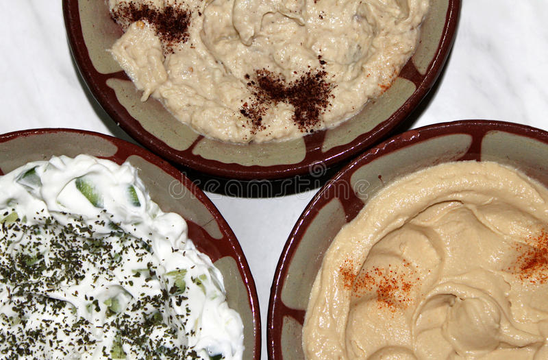 Traditioneel Libanees Voedsel Stock Afbeelding