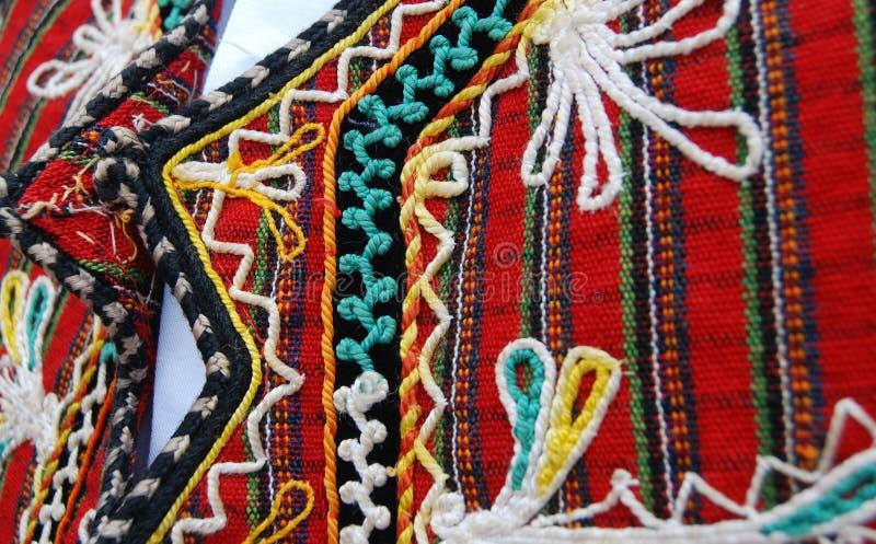 Traditioneel Macedonisch kostuum, details royalty-vrije stock fotografie