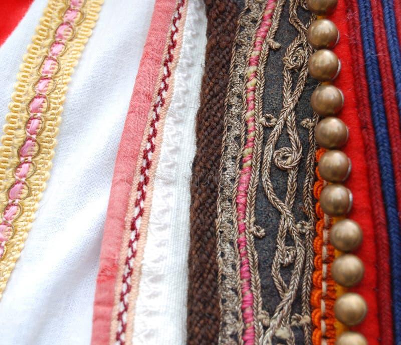 Traditioneel Macedonisch kostuum, details royalty-vrije stock afbeelding