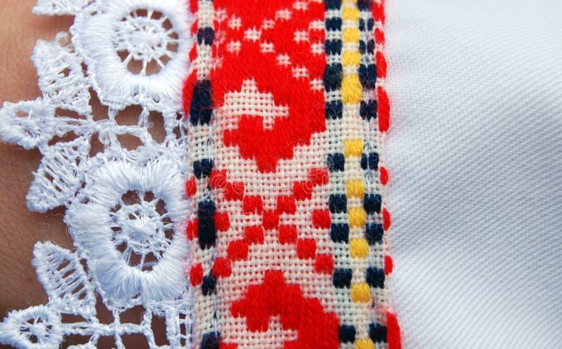 Traditioneel Macedonisch kostuum, details royalty-vrije stock foto's