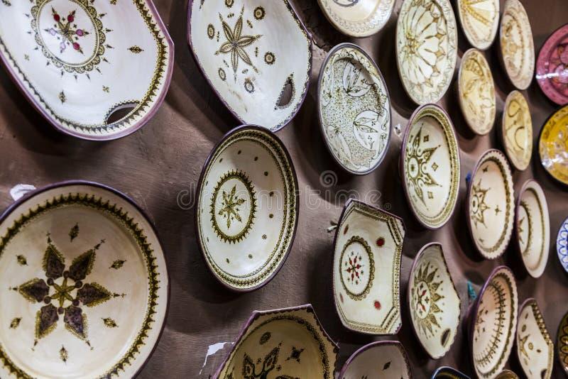 Traditioneel Marokkaans aardewerk stock afbeelding