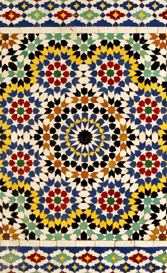 Traditioneel Marokkaans tegelpatroon royalty-vrije stock afbeelding
