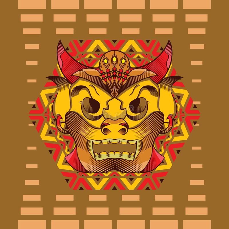 Traditioneel masker stock illustratie