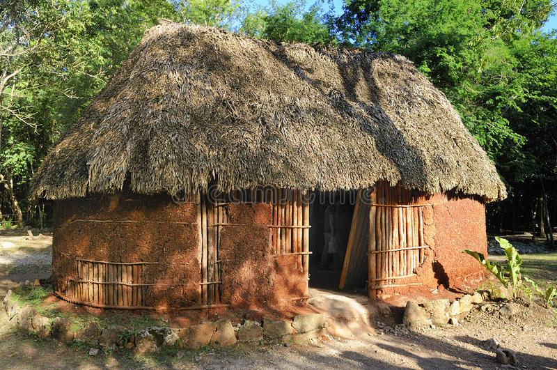Traditioneel mayan huis royalty-vrije stock afbeelding
