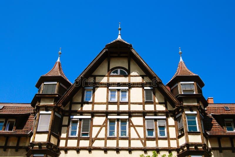 Traditioneel middeleeuws Duits huis royalty-vrije stock fotografie