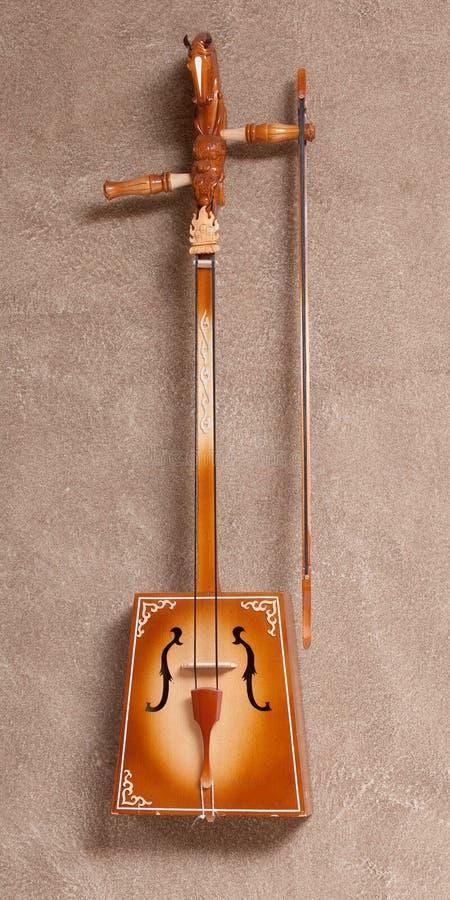 Traditioneel Mongools muzikaal instrument stock afbeelding