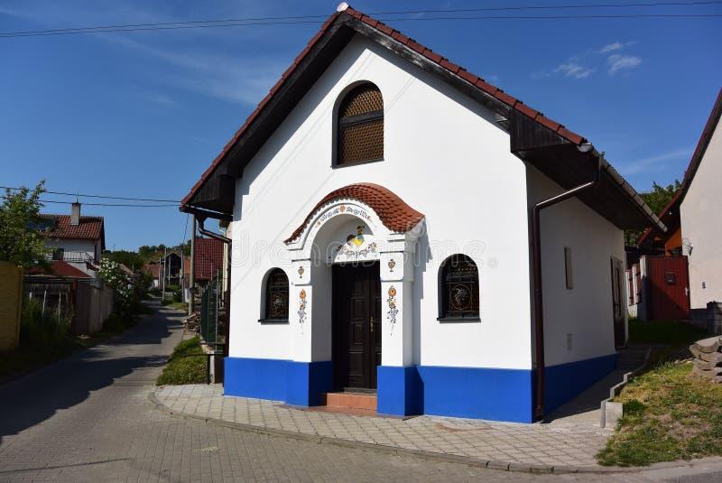 Traditioneel Moravian-huis, Tsjechische Republiek royalty-vrije stock afbeelding