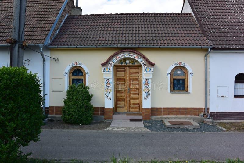 Traditioneel Moravian-huis, Tsjechische Republiek royalty-vrije stock foto's