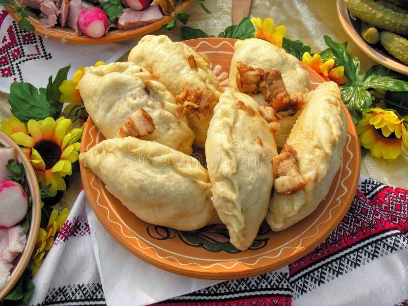 Traditioneel Oekraïens voedsel in assortiment royalty-vrije stock afbeelding