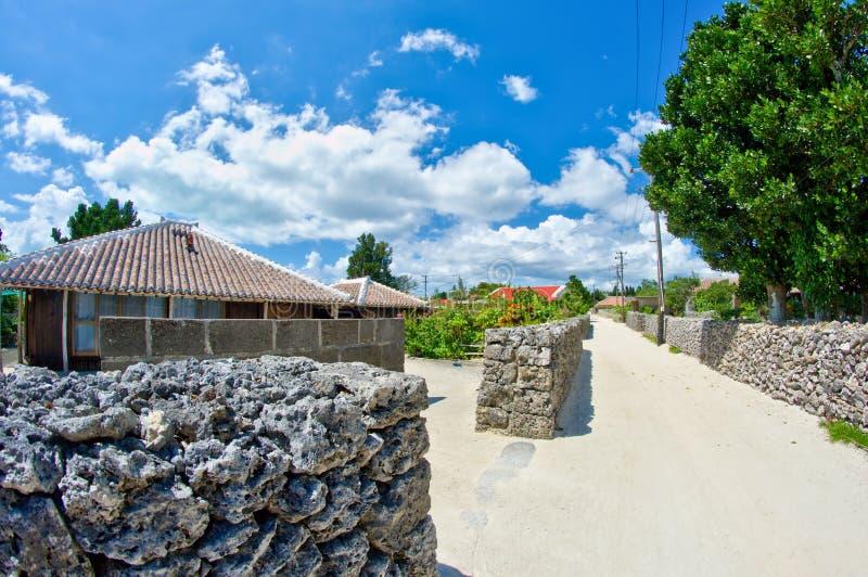 Traditioneel Okinawan-dorp stock afbeelding