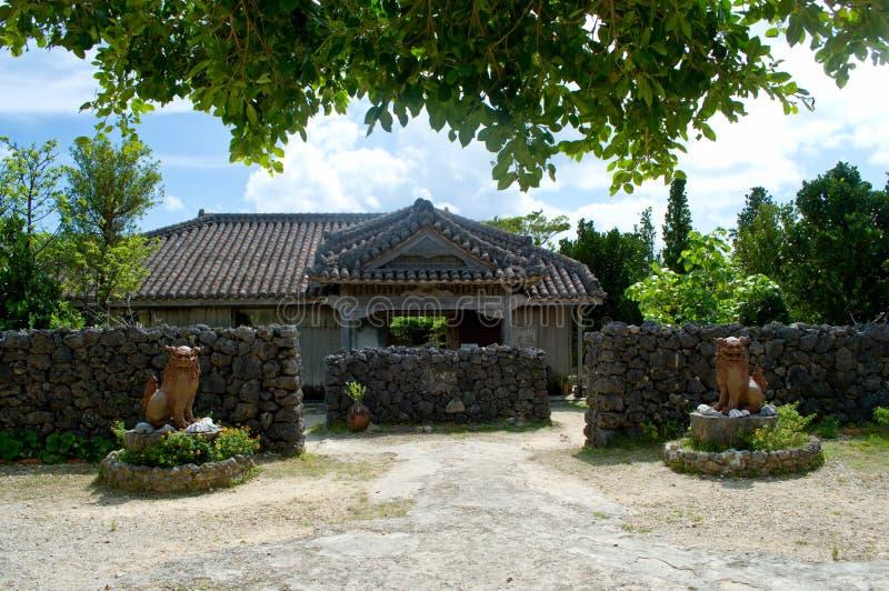 Traditioneel Okinawan-huis stock afbeelding