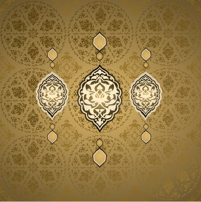 Traditioneel ottoman Turks naadloos ontwerp stock illustratie