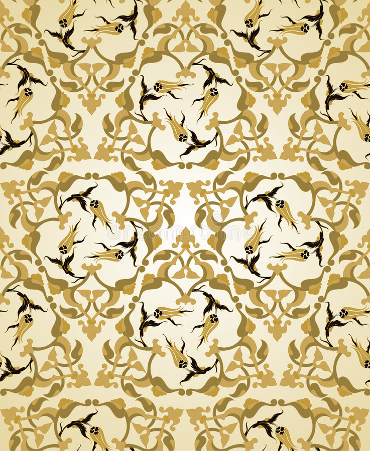 Traditioneel ottoman Turks naadloos ontwerp royalty-vrije illustratie