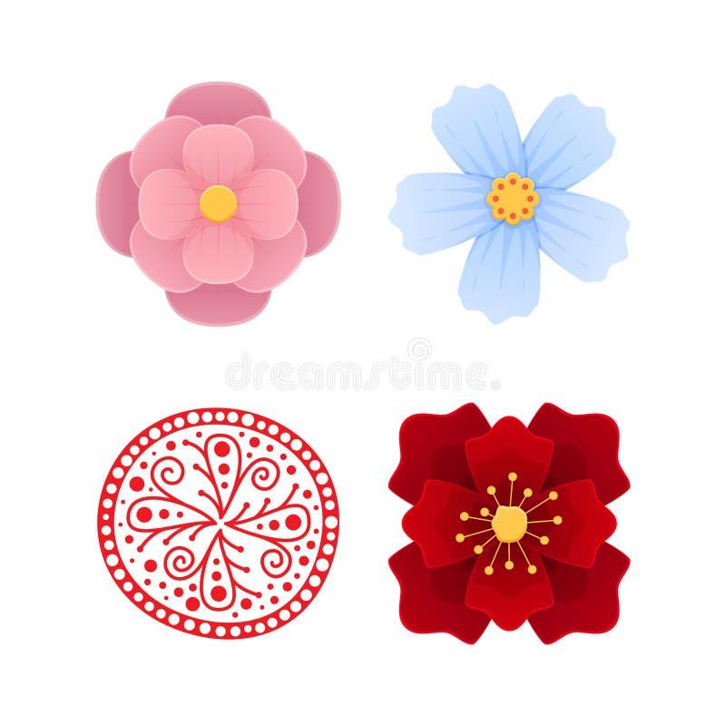 Traditioneel oud Chinees ornament, decoratief patroon Mooie Chinese bloemen royalty-vrije illustratie