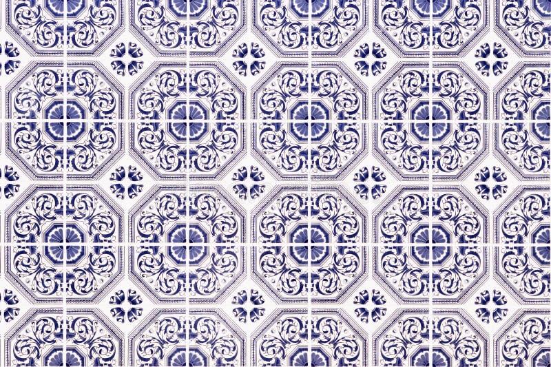 Traditioneel Portugees ceramisch mozaïek royalty-vrije stock foto's