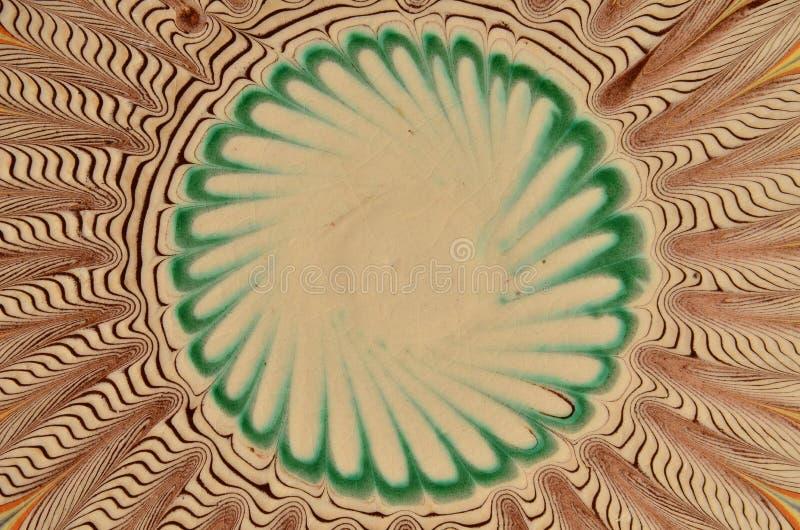 Traditioneel Roemeens aardewerk Abstracte achtergrond, symmetrie royalty-vrije illustratie