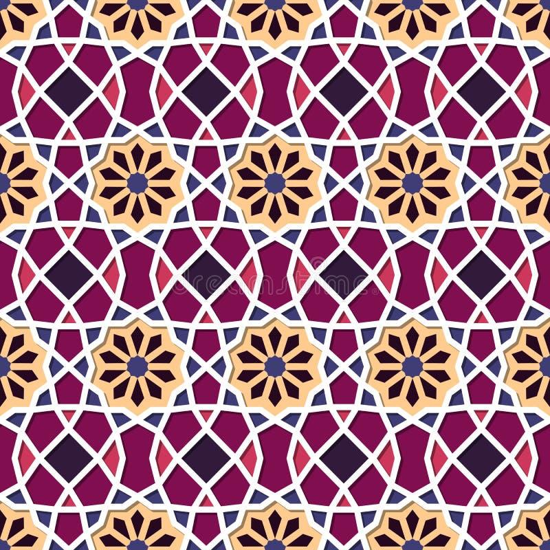 Traditioneel Sier Naadloos Islamitisch Patroon vector illustratie