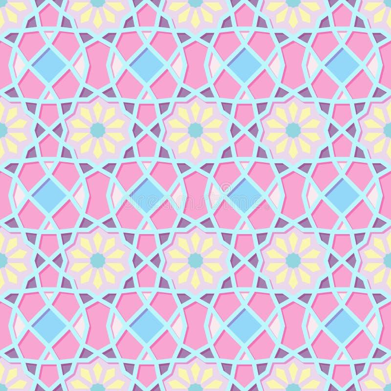 Traditioneel Sier Naadloos Islamitisch Patroon royalty-vrije illustratie