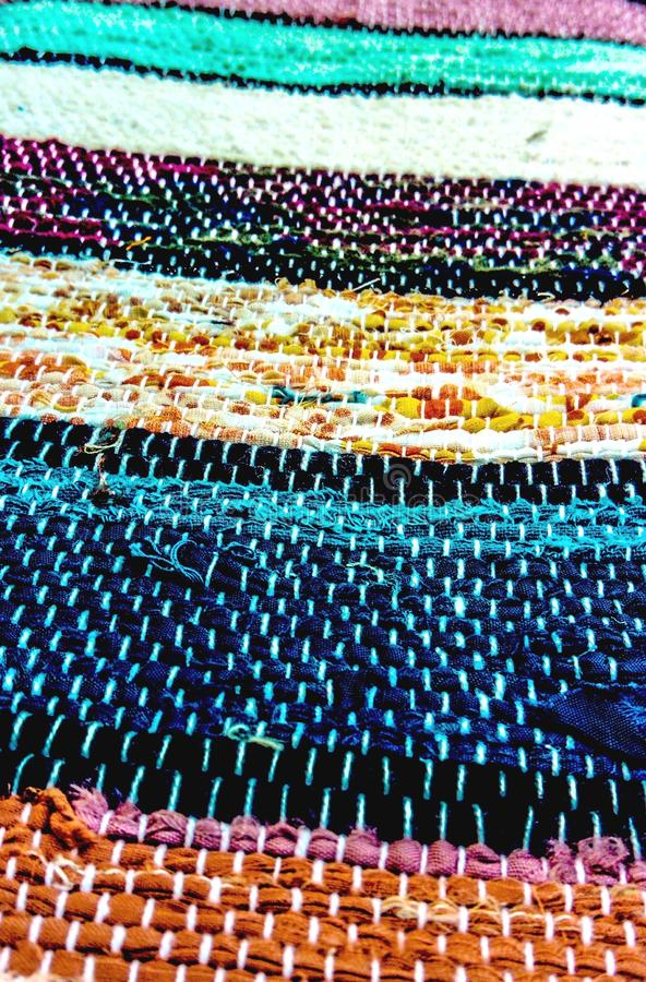 Traditioneel Slowaak geweven tapijt royalty-vrije stock foto's