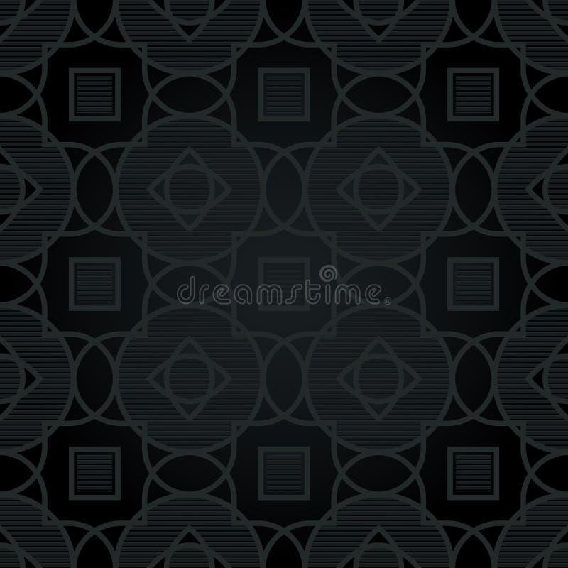 Traditioneel strikt patroon met een geometrisch ornament vector illustratie