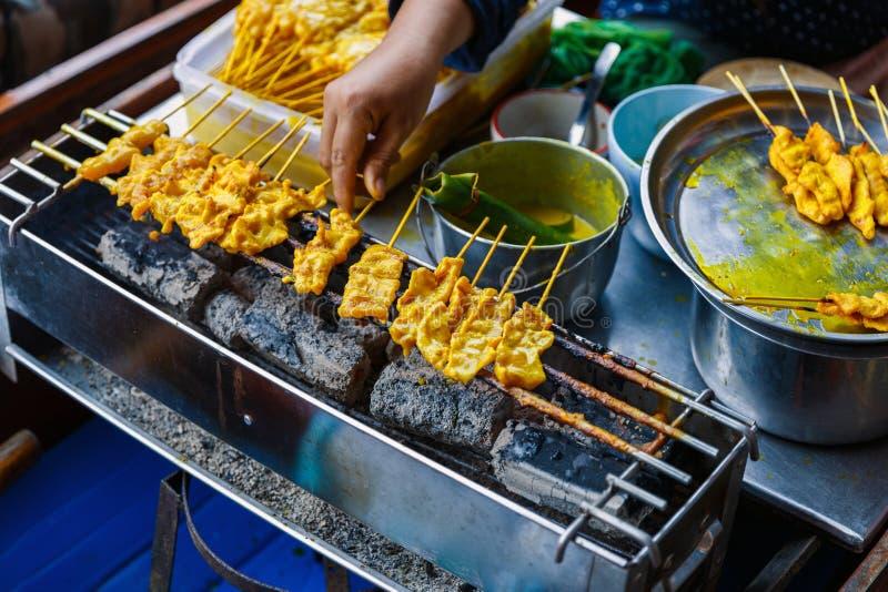Traditioneel Thais lapje vlees geroosterd varkensvlees royalty-vrije stock afbeelding