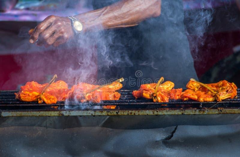 Traditioneel Thais lapje vlees geroosterd varkensvlees royalty-vrije stock afbeeldingen