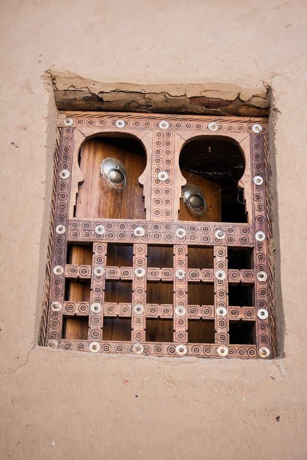Traditioneel venster, Timbuktu. royalty-vrije stock foto