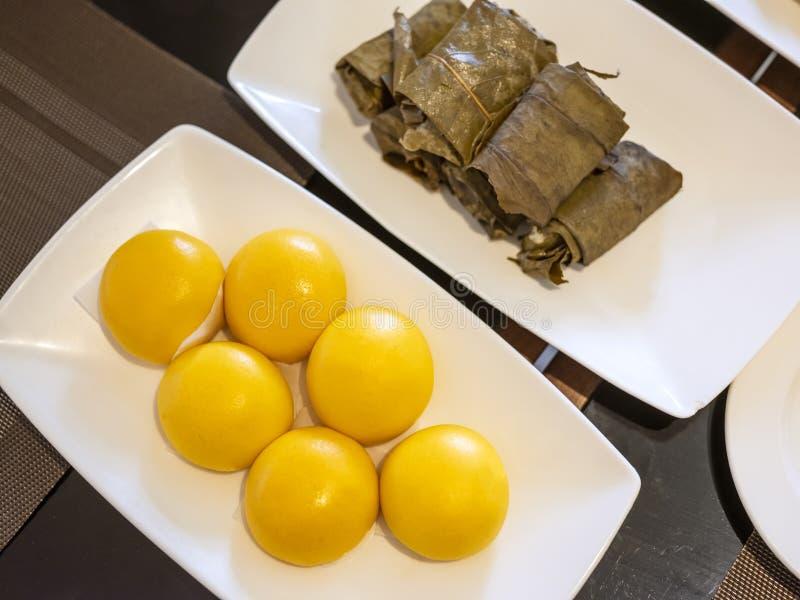 Traditioneel voedsel genoemd Bapau van Bandung, Indonesië royalty-vrije stock afbeelding