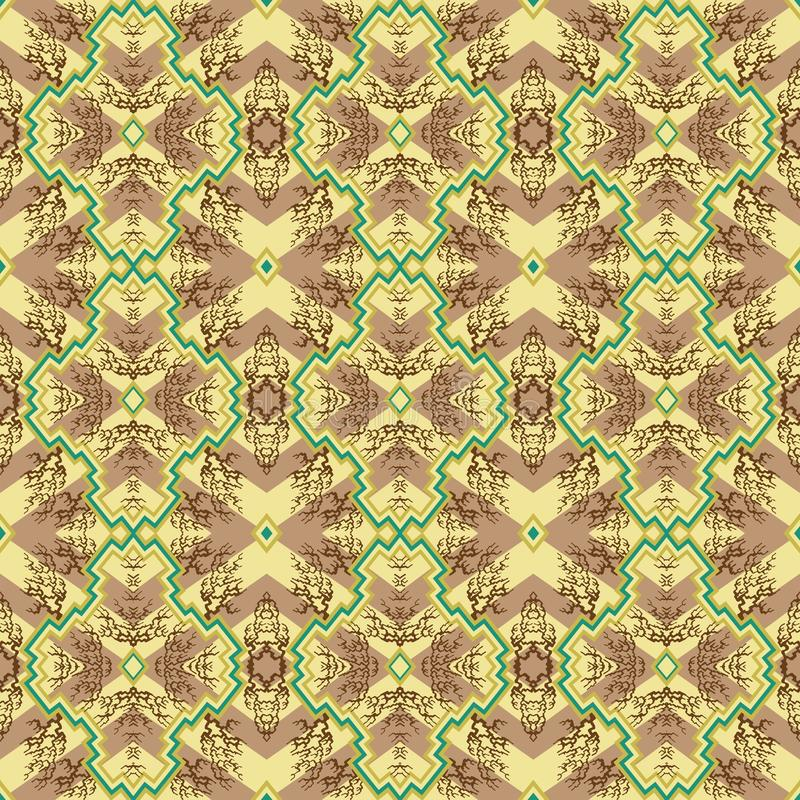Traditioneel vormen naadloos patroon royalty-vrije stock foto