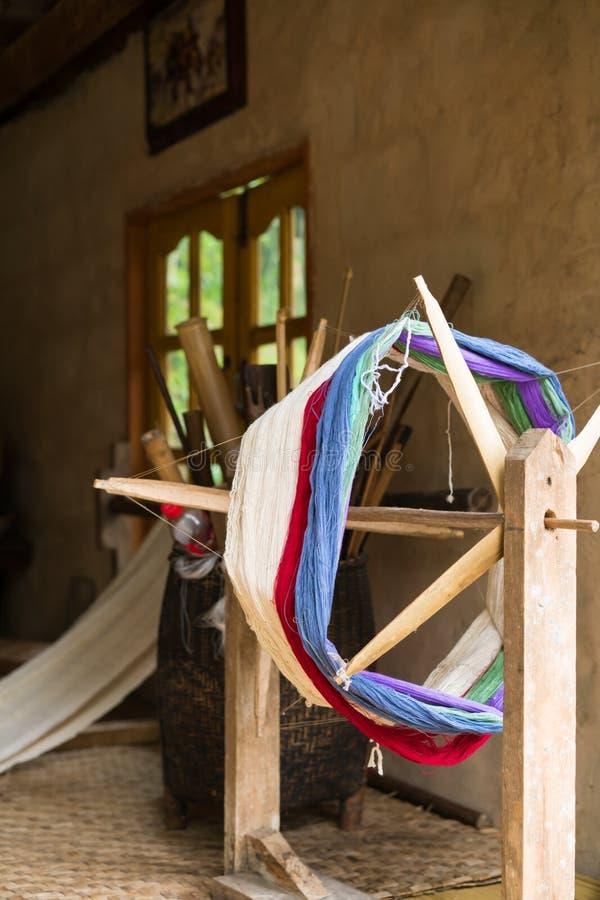 Traditioneel weefgetouw voor wolkleren Zachte nadruk royalty-vrije stock foto