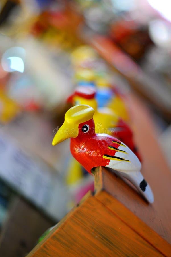Traditionele aardewerkvogel, Thailand stock foto
