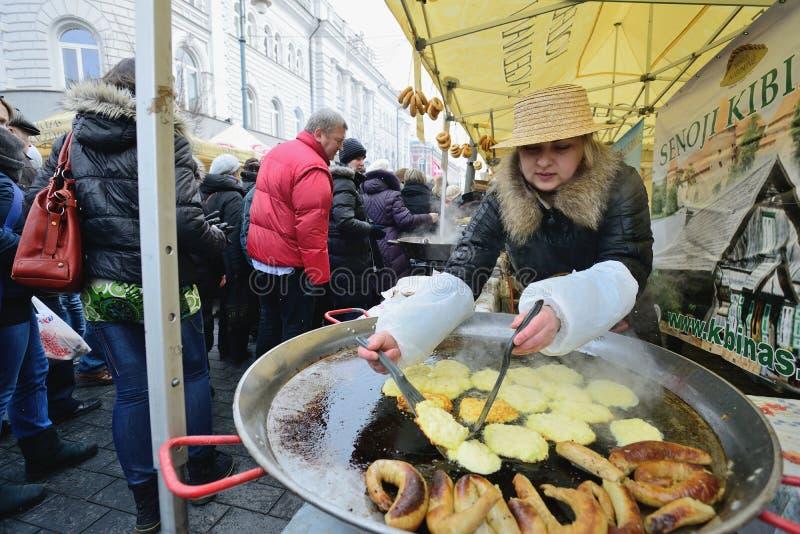 Traditionele ambachtenmarkt, Vilnius stock foto's