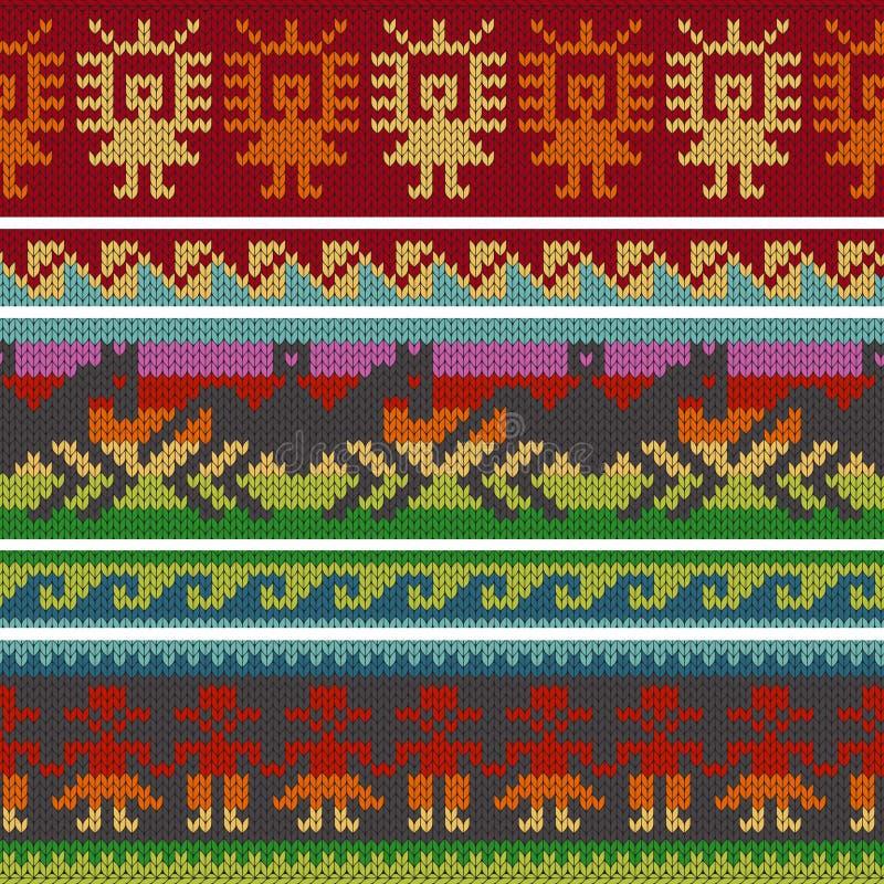 Traditionele Andes breiende patronen vector illustratie