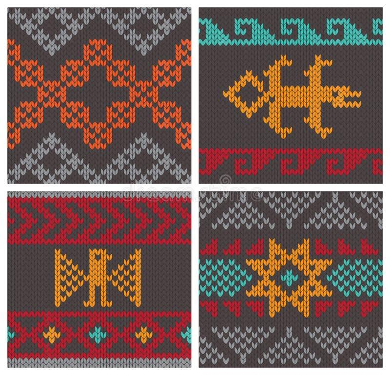 Traditionele Andes breiende patronen stock illustratie