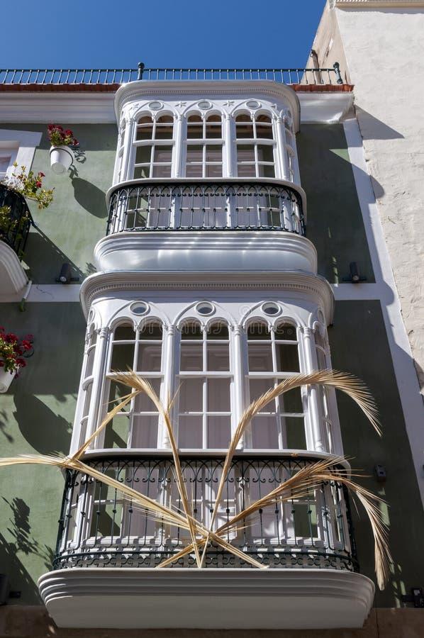 Traditionele architectuur in de stad van Cartagena royalty-vrije stock afbeeldingen