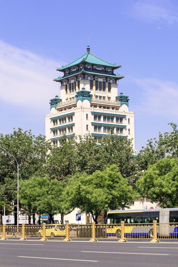 Traditionele architectuur, Peking, China stock afbeelding