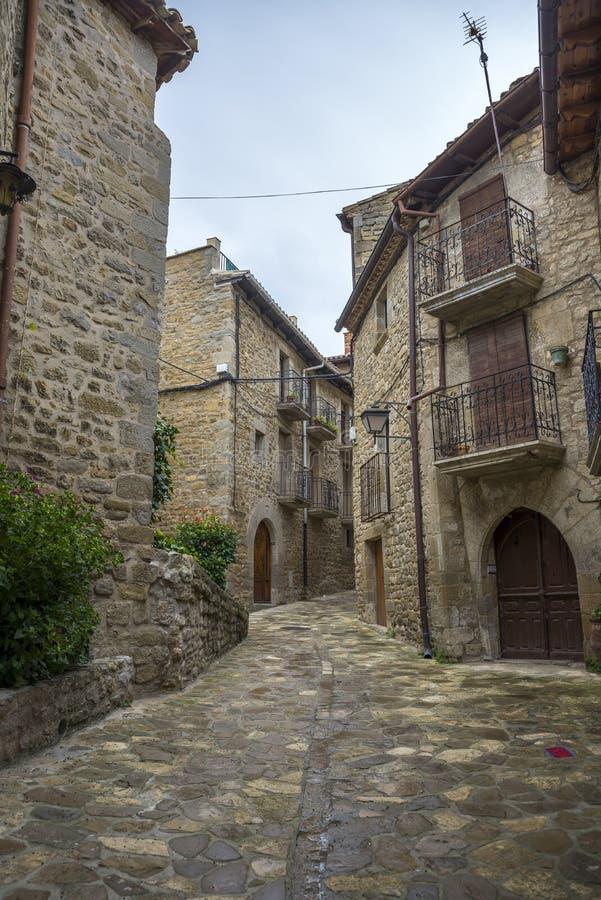 Traditionele architectuur in Sos del Rey Catolico royalty-vrije stock foto's