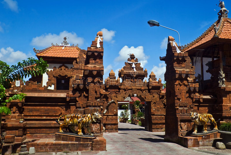 Traditionele architectuur van Bali royalty-vrije stock foto's