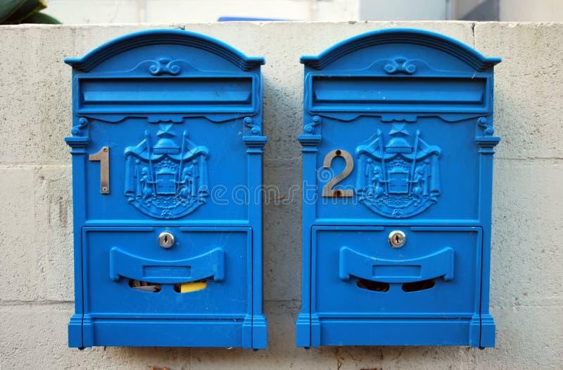 Traditionele Australische uitstekende retro postbox twee royalty-vrije stock foto
