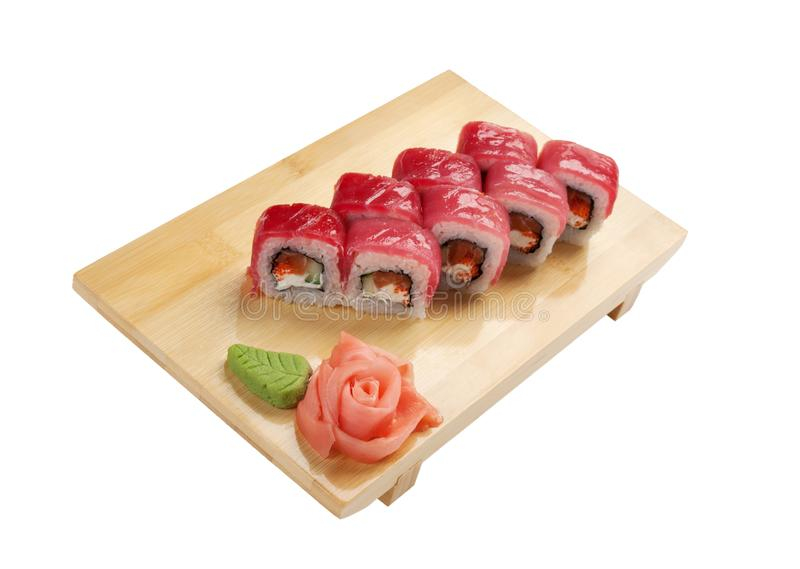 Traditionele Aziatische voedselsushi royalty-vrije stock foto's