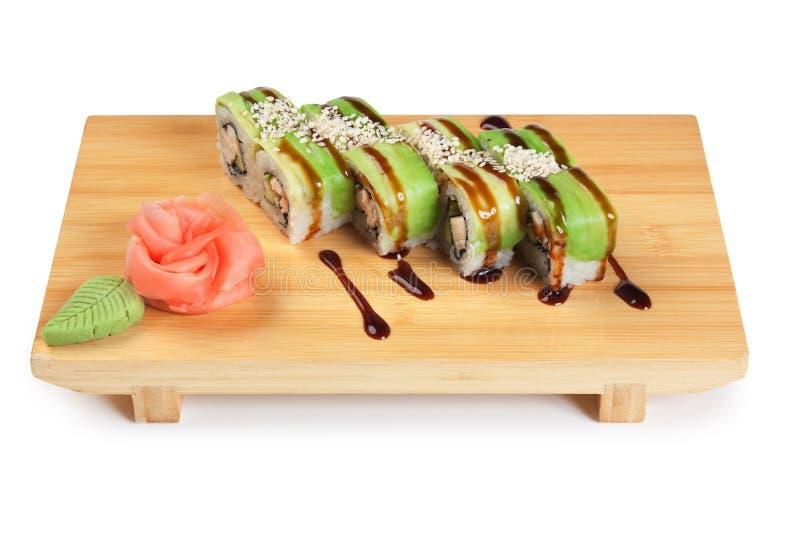 Traditionele Aziatische voedselsushi stock fotografie