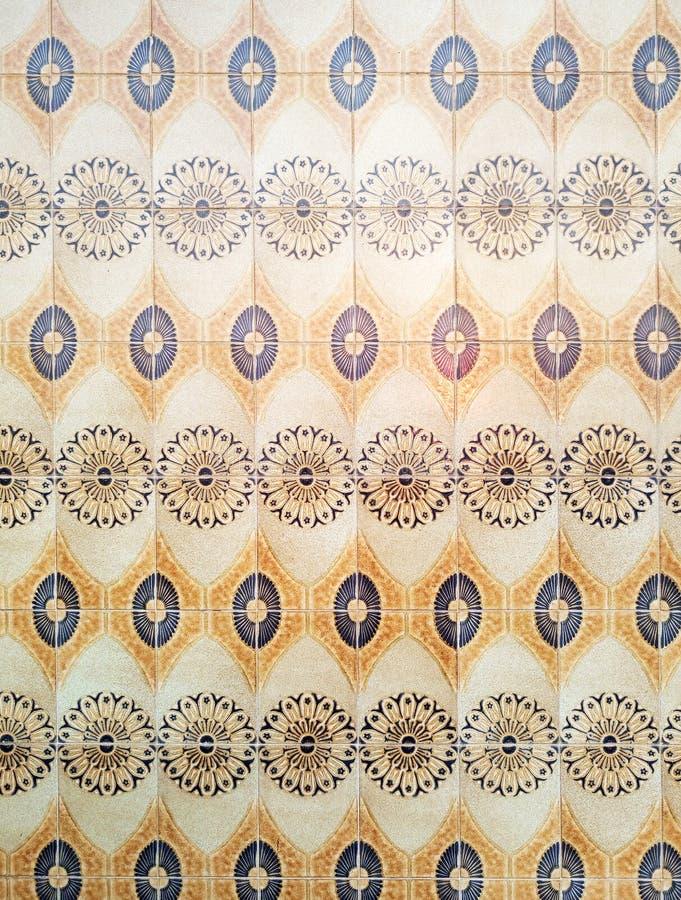 Traditionele Azulejo-Mozaïektegels, de Levensstijl van Portugal stock afbeeldingen