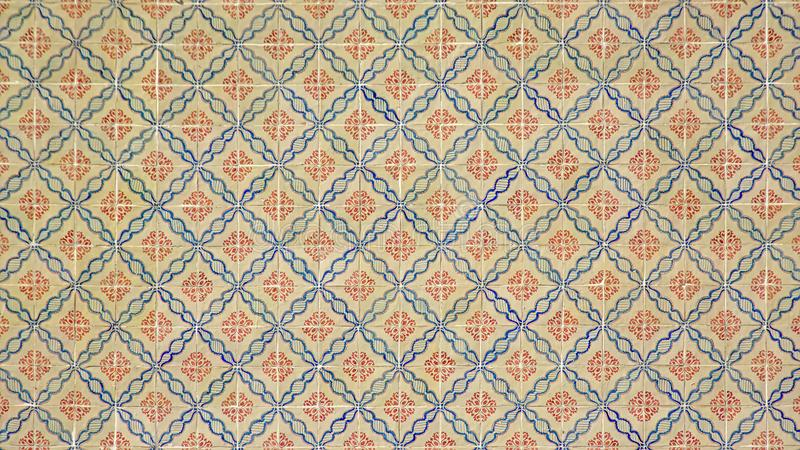 Traditionele azulejostegels van Lissabon, Portugal stock foto's