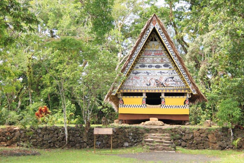 Traditionele baai Palauan stock afbeeldingen