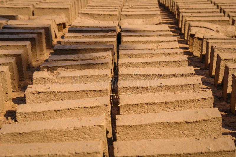 Traditionele baksteenfabriek stock foto