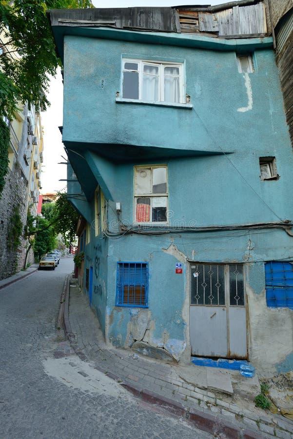 Traditionele blokhuizen, Istanboel royalty-vrije stock foto's