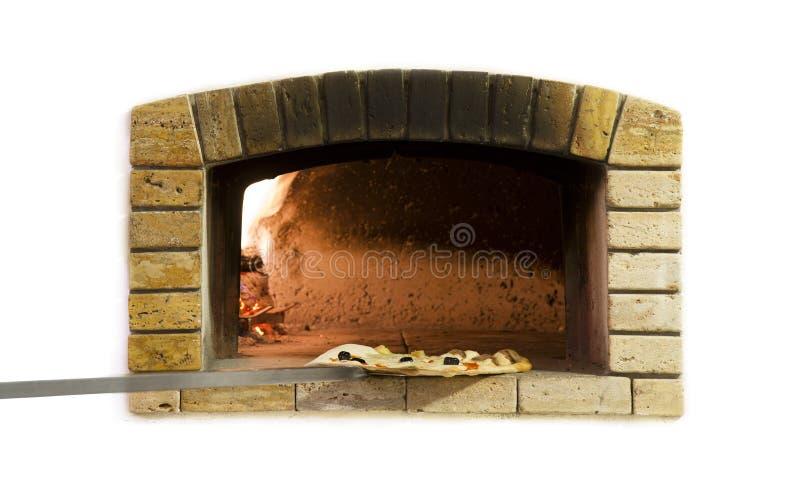 Traditionele brandoven voor pizza stock foto's