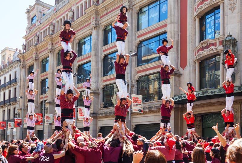 Traditionele Catalaan - Castell, Barcelona. Catalonië stock foto's